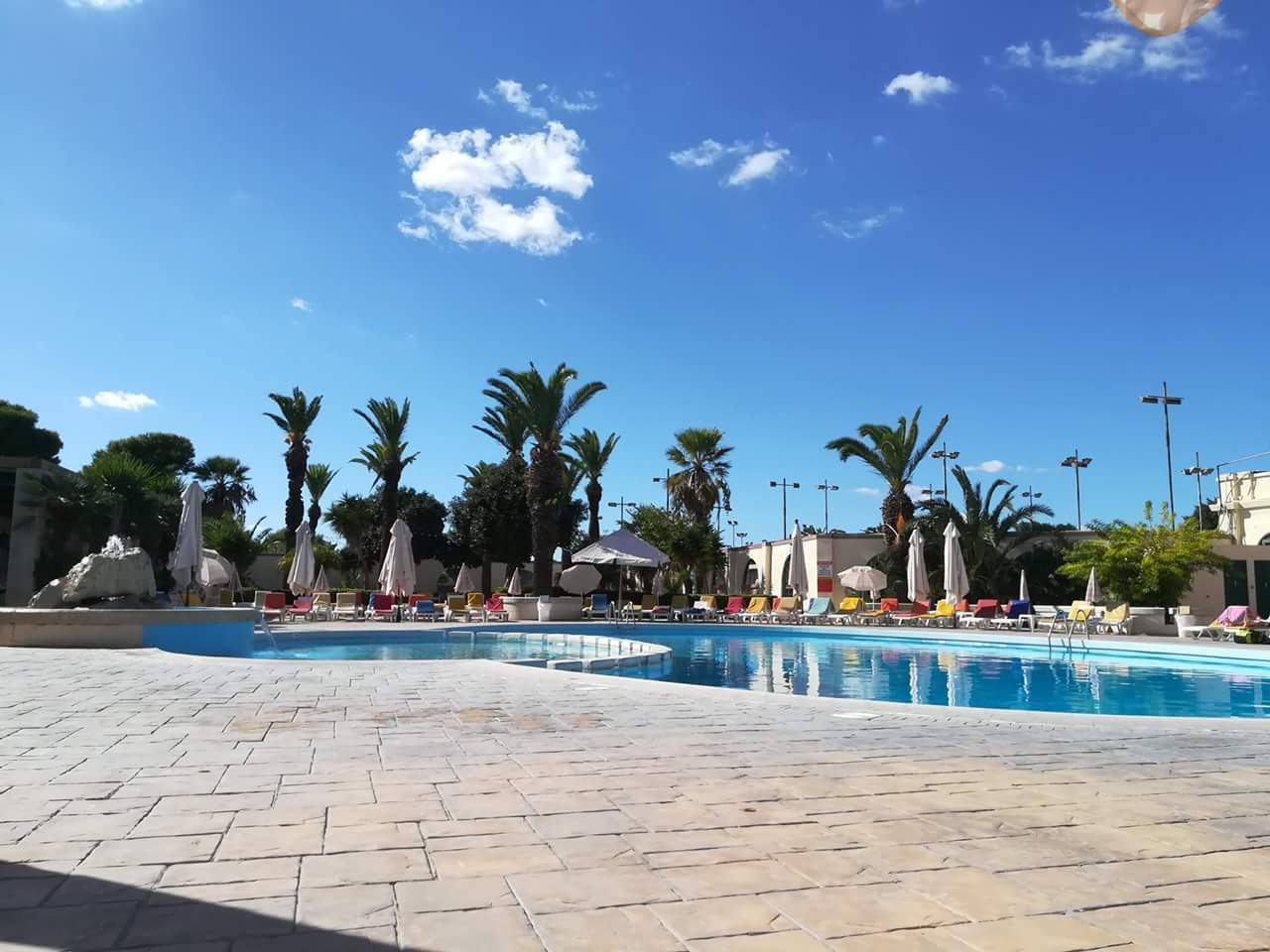 Pool area at Marsa Club open to all players + friends & family